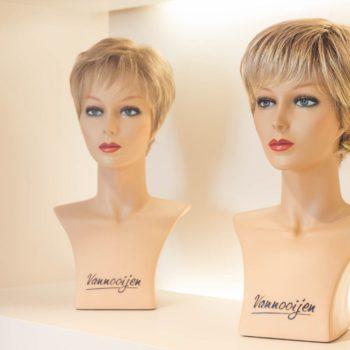 Korte blonde pruiken Ayrless